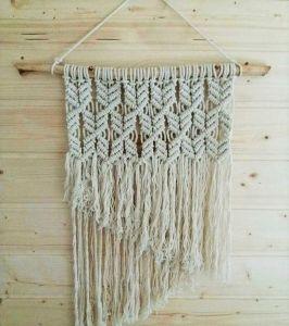 Macrame yarn wall art hanging