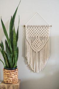 Macrame yarn wall hanging