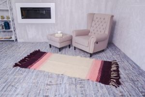 Small pink oriental rug