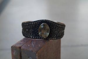 Lemon quartz silver bracelet