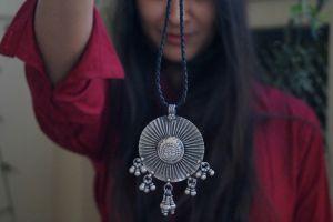Tribal round medallion pendant