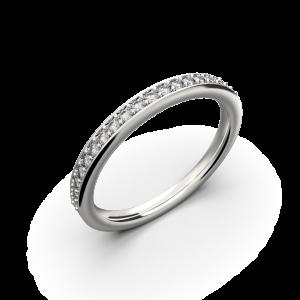 Women's white gold band wedding ring