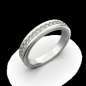 Diamond wedding band for women in white gold 0,235 carat