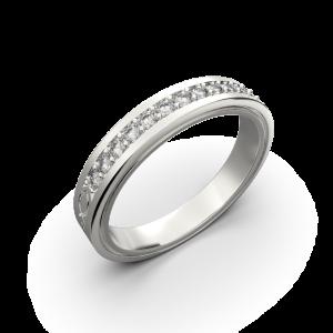 Wide diamond wedding band 0,161 carat
