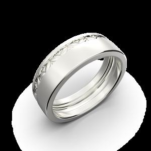 Wide wedding band without diamonds