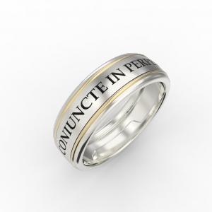 Women's gold engraved ring