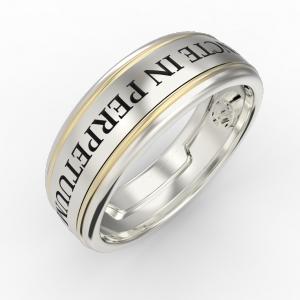 Men's gold engraved ring
