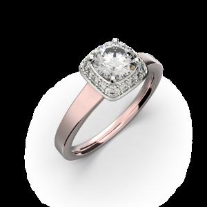 Gold diamond ring for women