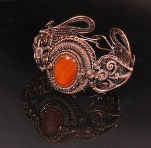 Wire wrapped carnelian bracelet
