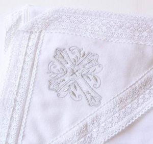 Embroidered baptism blanket
