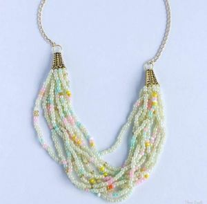 """A necklace of beads in several rows """"Grace"""""""