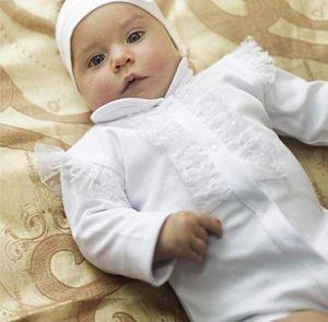 Baby girl baptising set