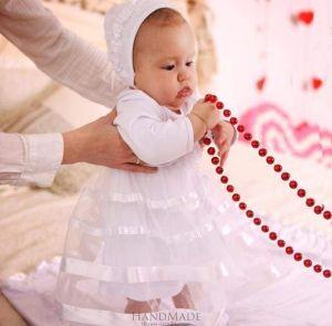 Baby girl baptismal dress «Small Lady»