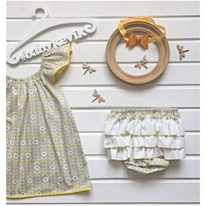 Baby girl cotton 3-piece set