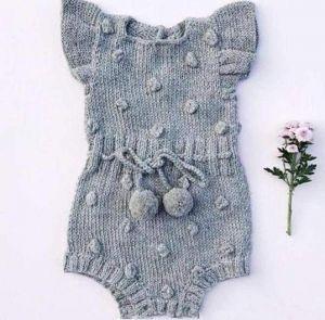 Baby girl knitted bodysuit