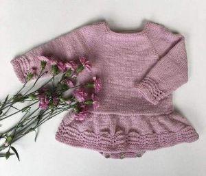 Baby girl pink bodysuit dress