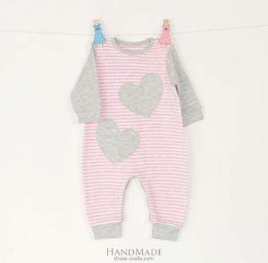 Baby girl romper Hearts