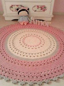Baby girl room round rug