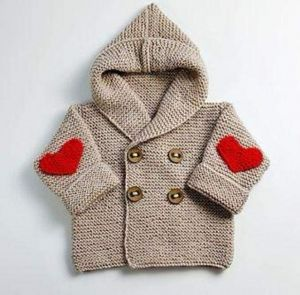 Baby hooded cardigan sweater