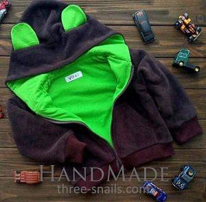 "Baby hoodie with ears ""Teddy bear"""