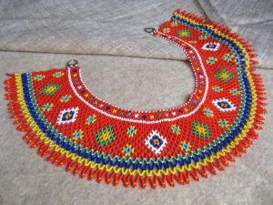 """Beaded collar necklace (sylyanka) """"Carpathian Sun"""""""
