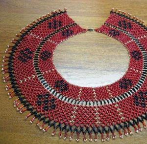 "Beaded collar necklace (sylyanka) ""Holiday mood"""