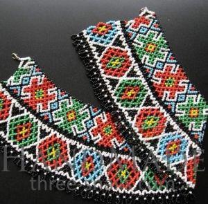"""Beaded collar necklace (sylyanka) """"Kolomyika"""""""