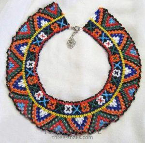 "Beaded collar necklace (sylyanka) ""Slavic gatherings"""