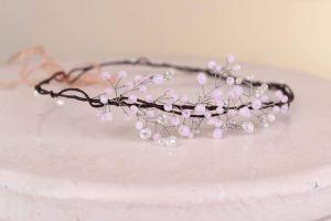 "Beaded headpiece""Tender crystals"""