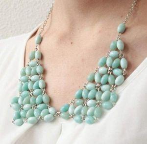 "Beaded necklace ""Azure"""