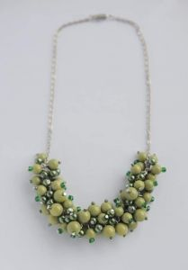 """Beaded necklace """"Grape bunches"""""""