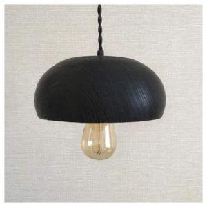 Black wooden chandelier