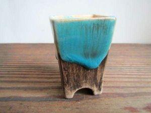 """Blue pot for cactus or succulents """"Blue wave"""""""
