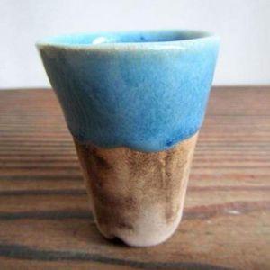 """Blue round pot for succulents """"Blue dream"""""""