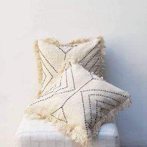 Boho fringe pillow case