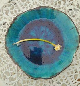 """Bowl with deep blue glaze """"Sky dream"""""""