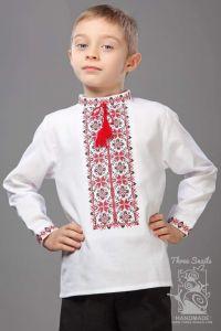 "Boys white shirt ""Colorful bluming"""