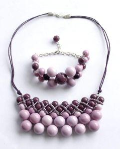 """Bracelet and necklace set for women """"Violent"""""""