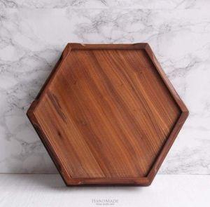 Brown hexagon tray