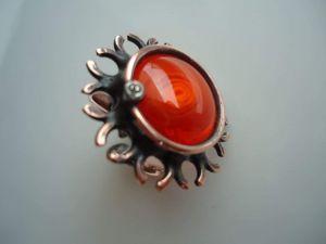 "Cabochon ring ""Undersea world"""