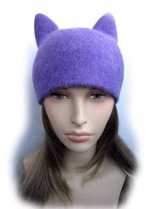 "Cat ear hat ""Lilac"""