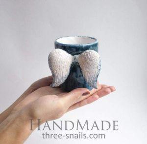 "Ceramic cup""Blue angel"""