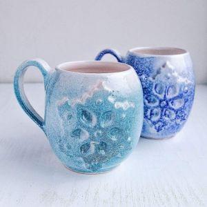 """Ceramic cup """"Snowflake"""""""