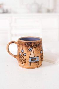 "Ceramic cups ""Scandinavian"""