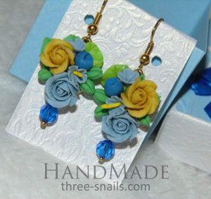 "Ceramic earrings ""Spring princess"""