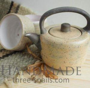 "Ceramic set ""Matte beige"""