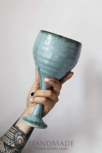 "Ceramic wine glass ""The horizonless sky"""