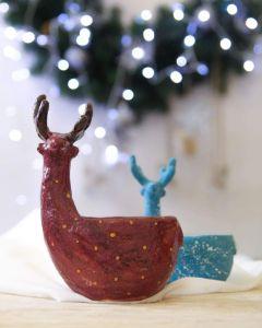 Christmas deer bowl
