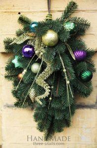 """Christmas door swag """"Oriental lights"""""""