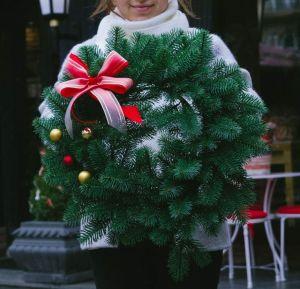 "Сhristmas door wreath ""Fantasy"""